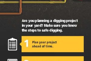 Front of brochure about digging safely.